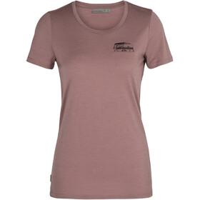 Icebreaker Tech Lite SS Low Crew Shirt The Good Life Women, rojo